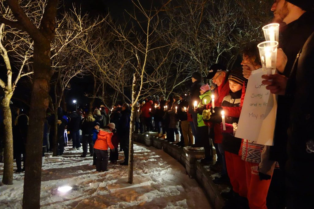Candlelight vigil for the Quebec City Mosque in London, Ontario, consideration for London becoming a Sanctuary City