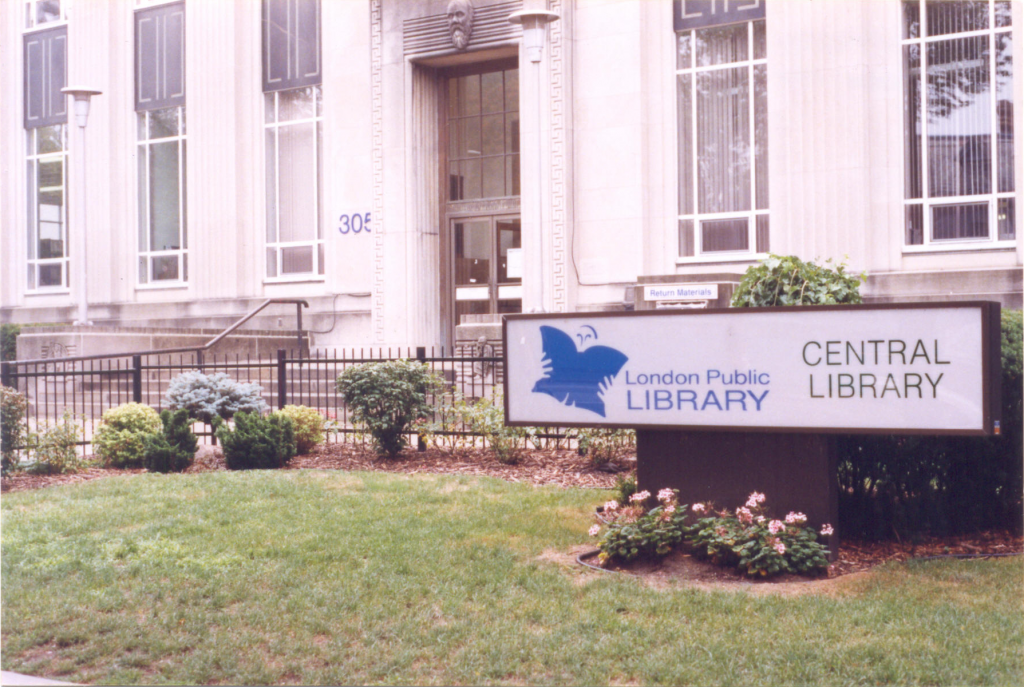 The London Public Library, Central location in 1998
