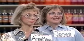 Supermarket Sweep contestants AnneMarie and Janice