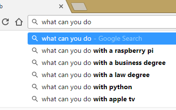google search results for what can you do