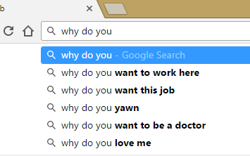 google search results for why do you