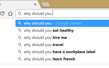 google search results for why should you