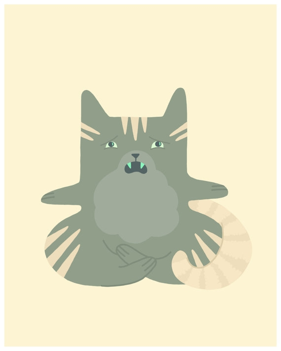 london ontario illustrator sherry garcia yoga cat etsy grickle grass