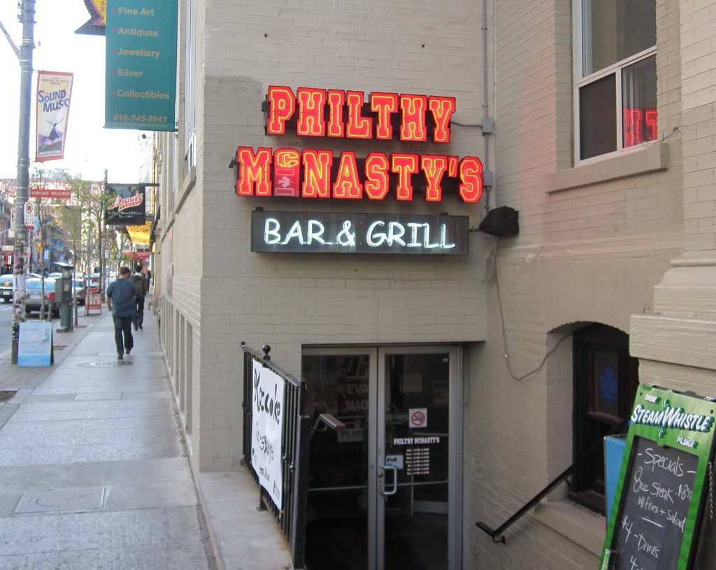 The entrance to Toronto's former Philthy McNasty's location.