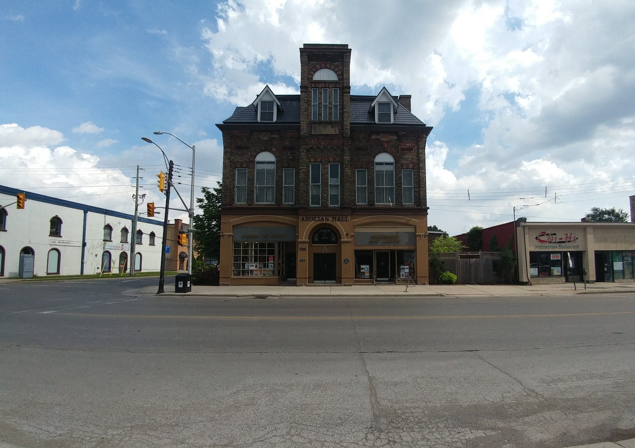 A photo facing South of the Aeolian Hall, which plays host to the Local Folk 3 concert on June 10, 2017.