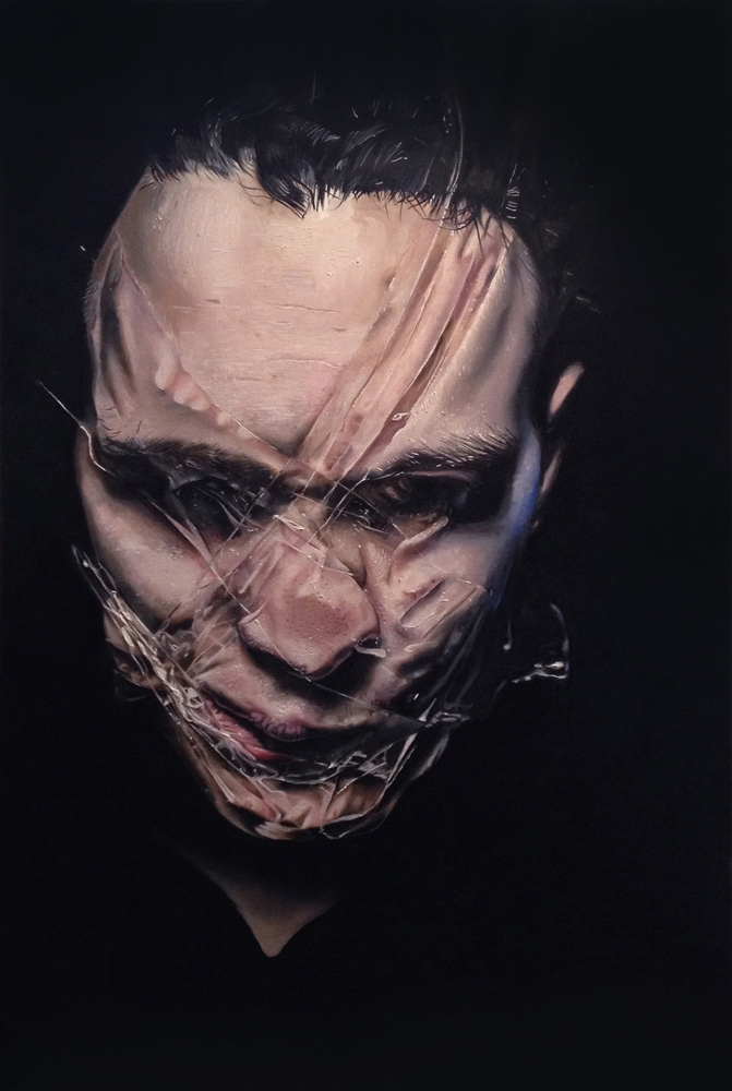 realism oil painting face