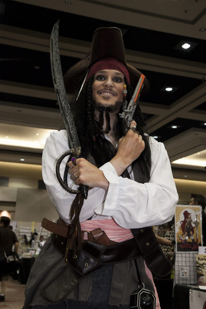 Zachary Peebles as Captain Jack Sparrow. Photo by Ed Phin.