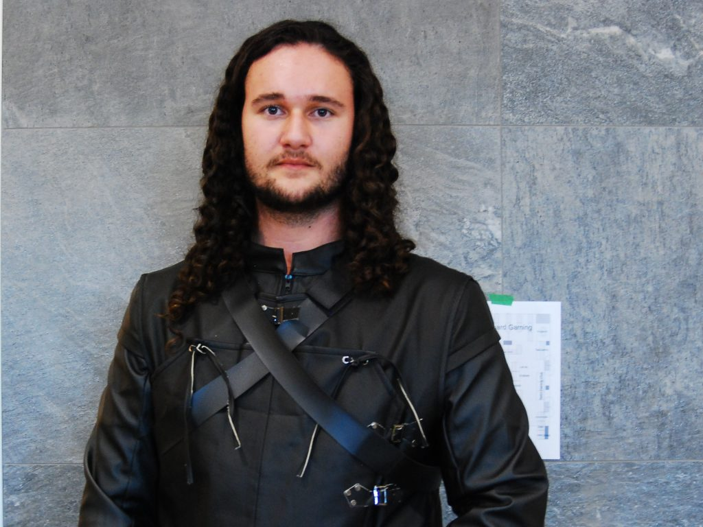 "Hunter Lawrence as Jon Snow from ""Game of Thrones"" at Forest City Comicon. Photo by Emily Stewart."