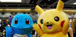 Pikachu and Squirtle