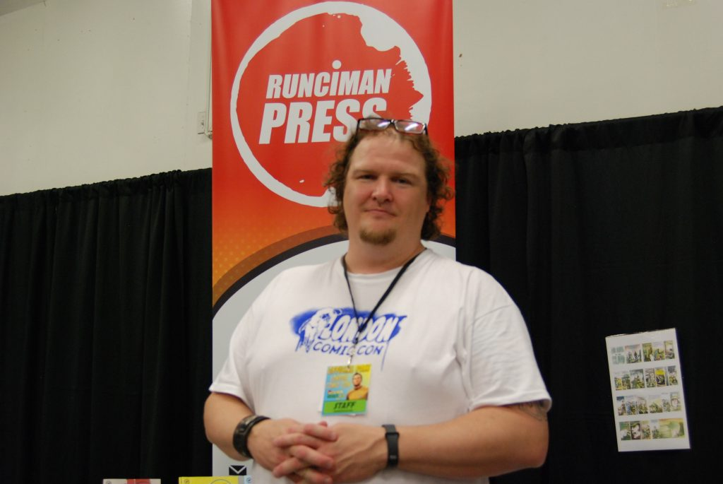 Christopher Runciman at London Comic Con