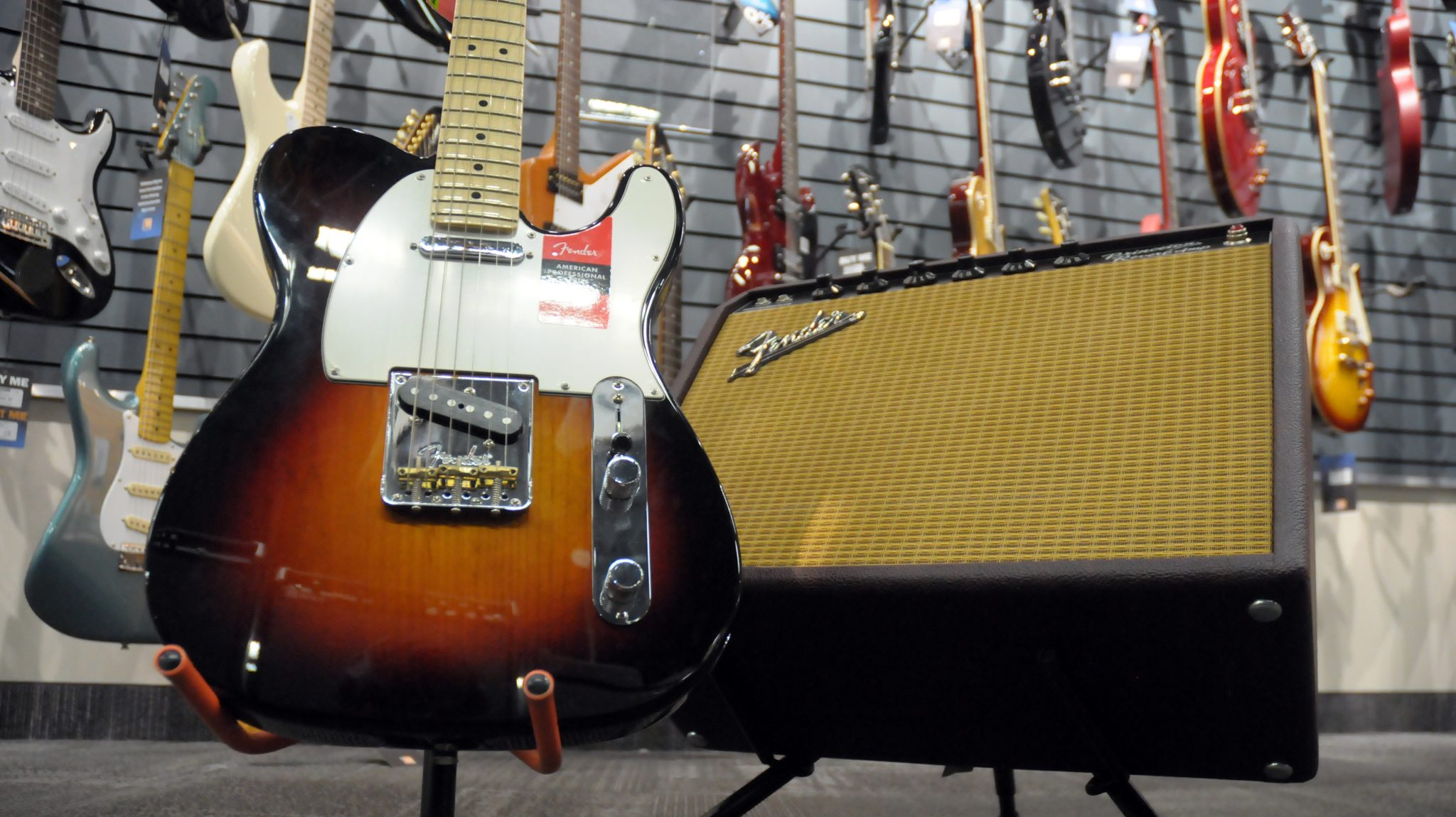 Fender Telecaster and Princeton Reverb