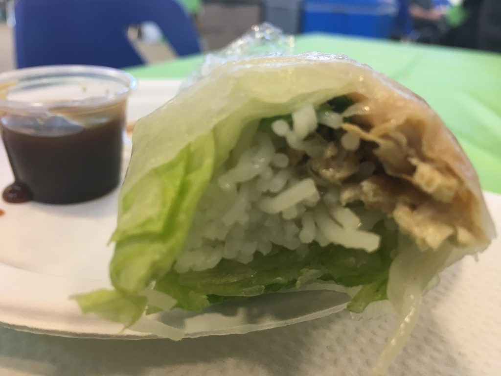 A fresh roll from Chi-Hi at VegFest.