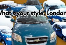 Clean your car off London-style this winter.