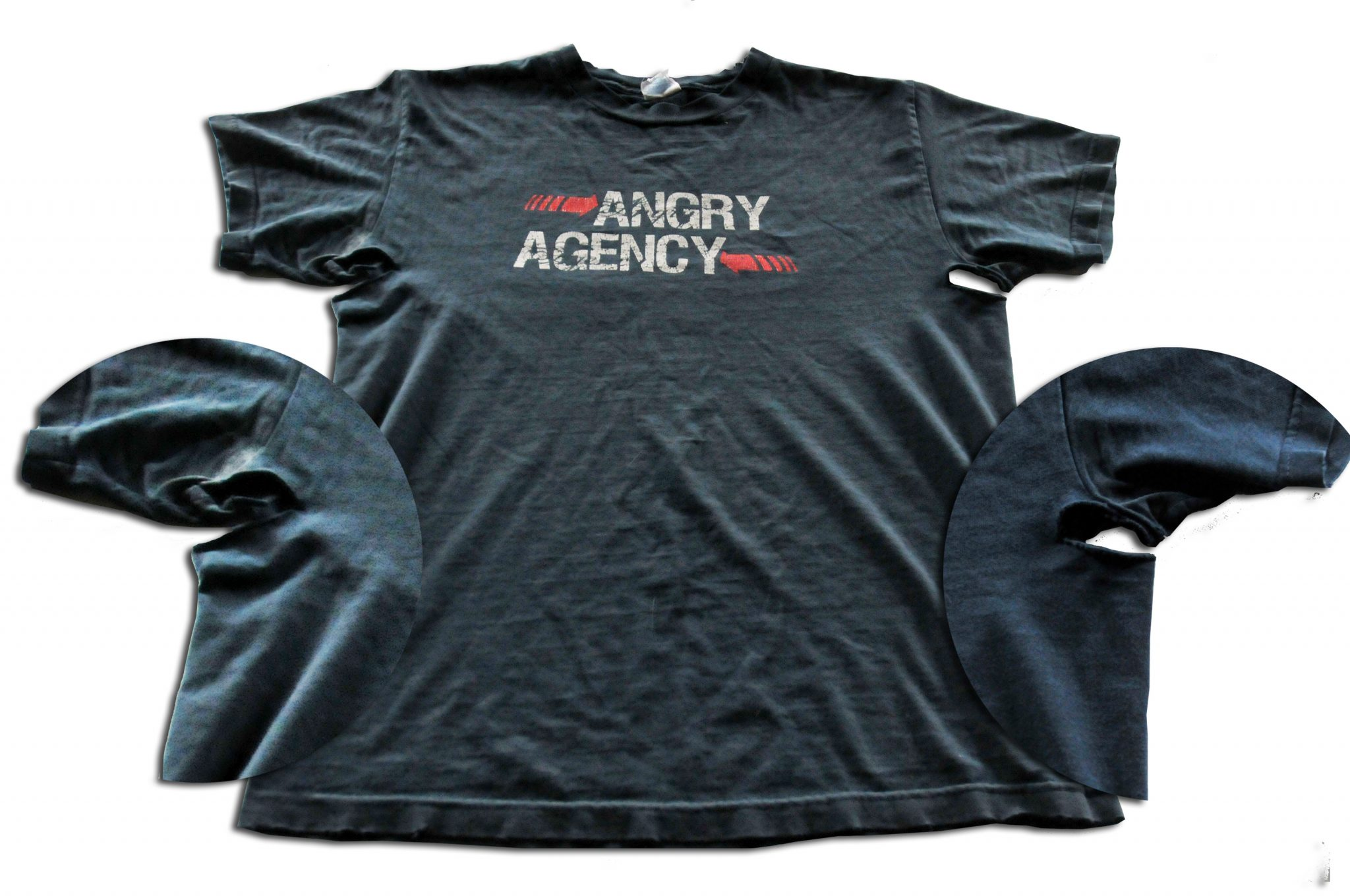 I'm not so much angry as I am disappointed that my Angry Agency shirt is literally falling apart.