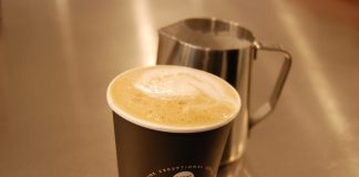LondonFuse. Ice cream shop owner delves into the world of coffee. A latte and milk steamer at CommonWealth Coffe e Co.