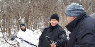 Director Philip Hu on set of his Fanshawe short film, The Bog Witch. Photo by Justin Smith.