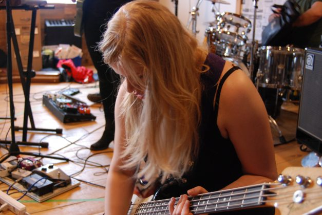 Behind the scenes at Live at Fuse HQ. White Swan performing at LondonFuse. Photo by Emily Stewart.