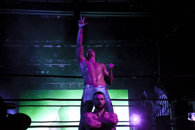 """""""The Remix of Professional Wrestling"""" Kevin Bennett arrives to the ring with glitz and glam."""