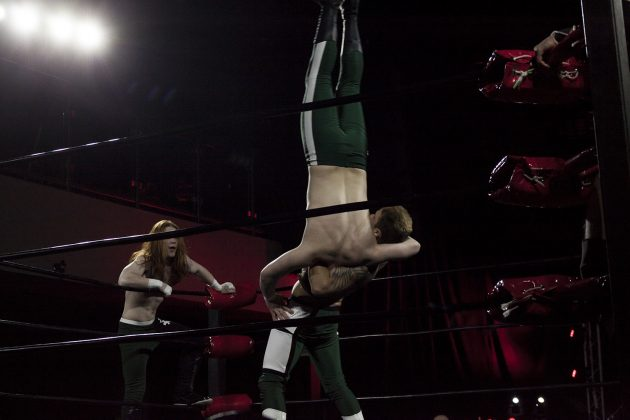 Students of the Tyson Dux Wrestling Factory give it 110% during their debut match.