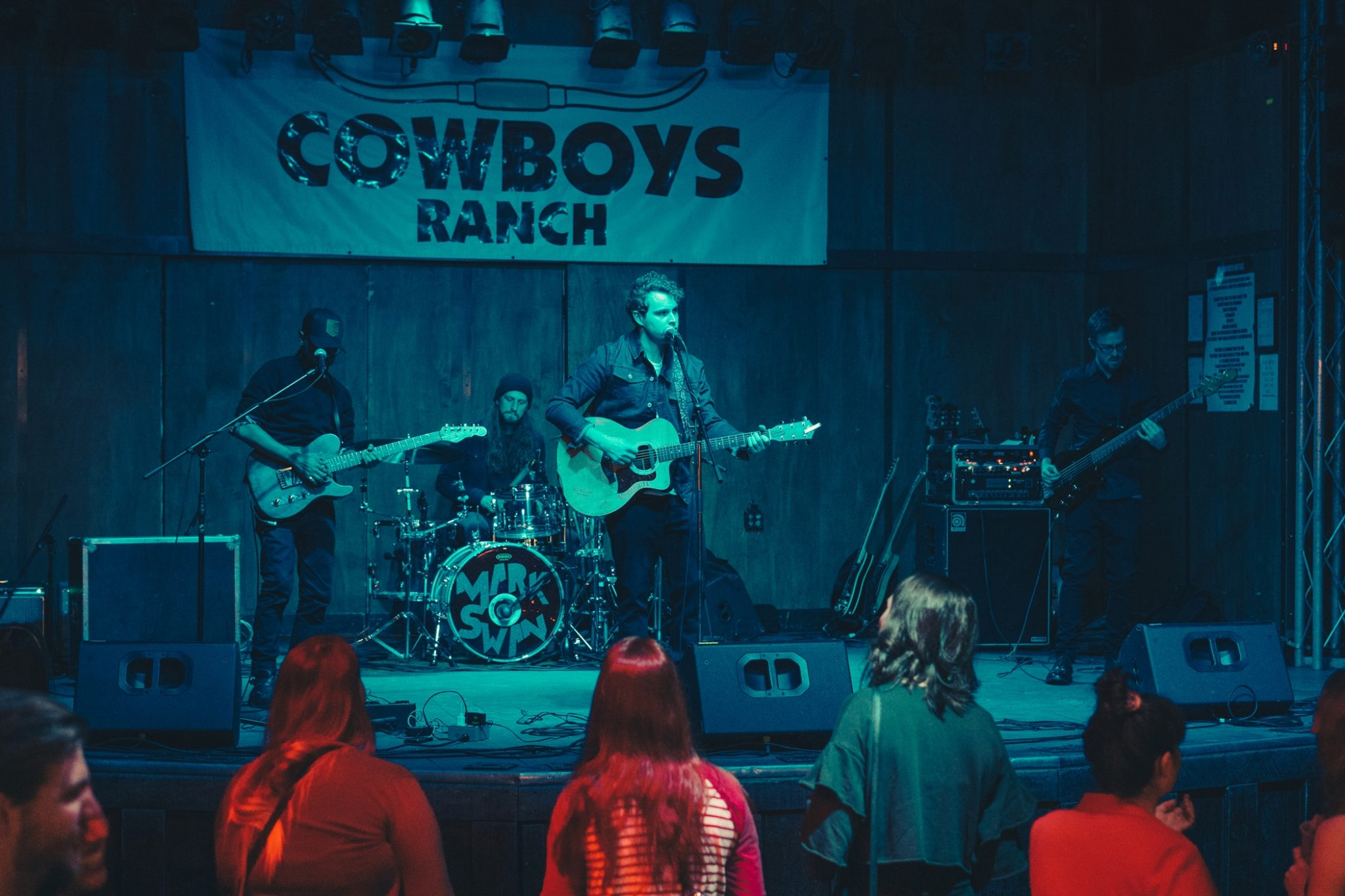 Weber and co. playing live at Cowboys. Photo by Brendan Beamish.