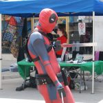 Austin Griffin as Deadpool for Free Comic Book Day in London, Ontario. Photo by Emily Stewart.