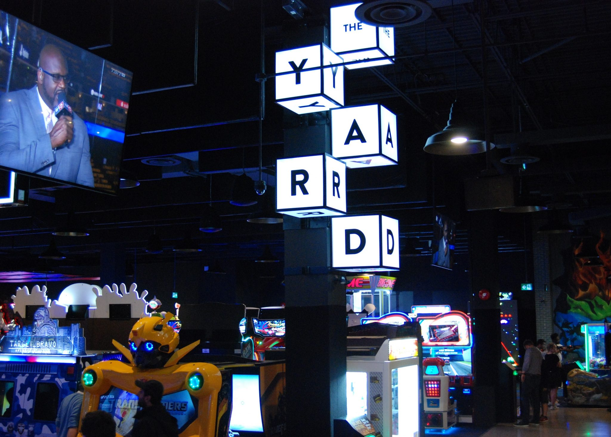 Satisfy your hunger for gaming at the Rec Room. London, Ontario's The Rec Room's The Yard, which features a variety of arcade games.Photo by Emily Stewart.