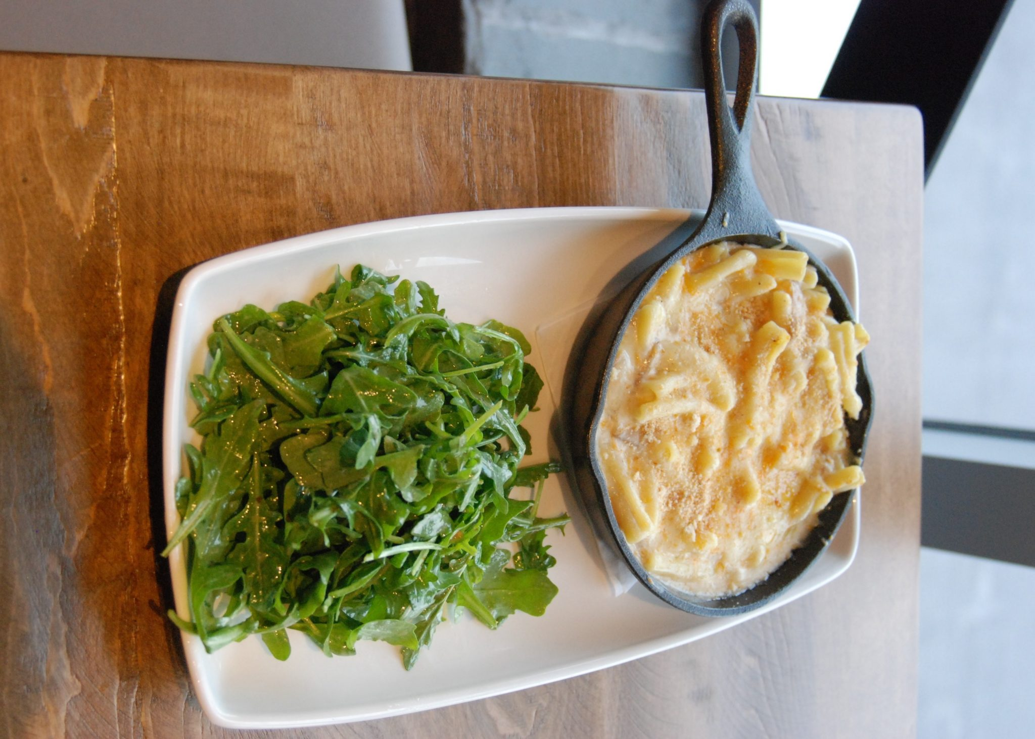 Satisfy your hunger for gaming at the Rec Room. Macaroni and cheese and arugula salad at the Rec Room in London, Ontario. Photo by Emily Stewart.