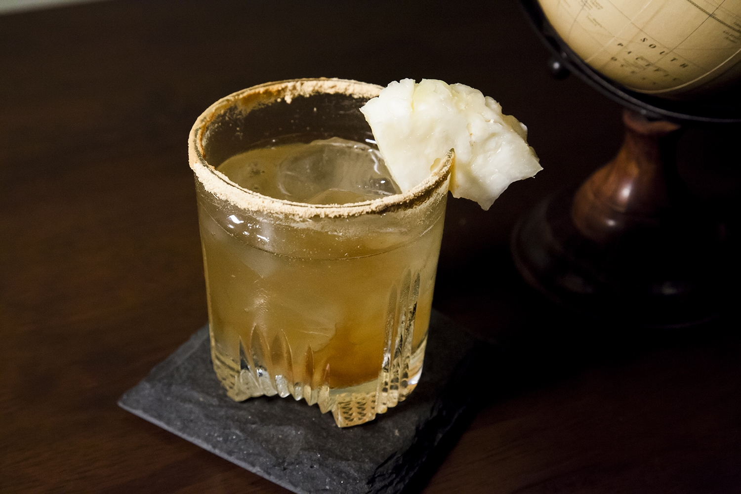 Rye and Ginger is a classic, but the Aziz adds that extra something by adding pineapple juice and Chambord.