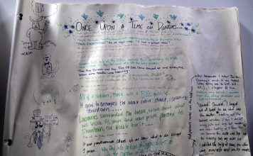 The story, as written by Londoners at the Dundas Street Arts Festival.