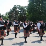 Thank You Ilderton. The London Fire Fighters Pipe Band playing at the Thank You Ilderton Parade in Ilderton, Ontario . Photo by Emily Stewart.