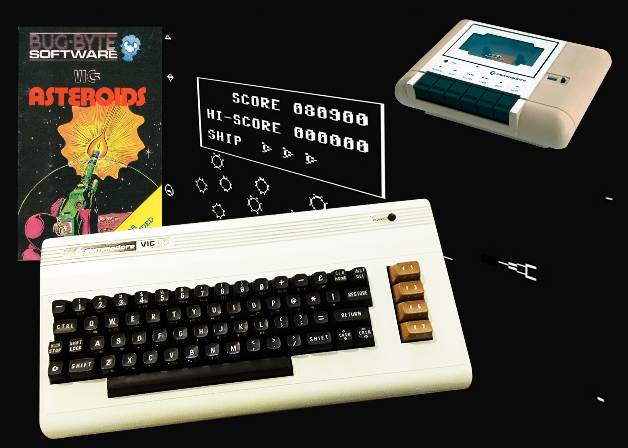Asteroids on the Vic 20 wasn't much to look at, but it sure did test your button mashing finger.