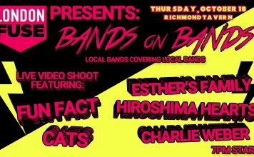 Bands on Bands - the first show of its kind, and it's brought to you by LondonFuse!