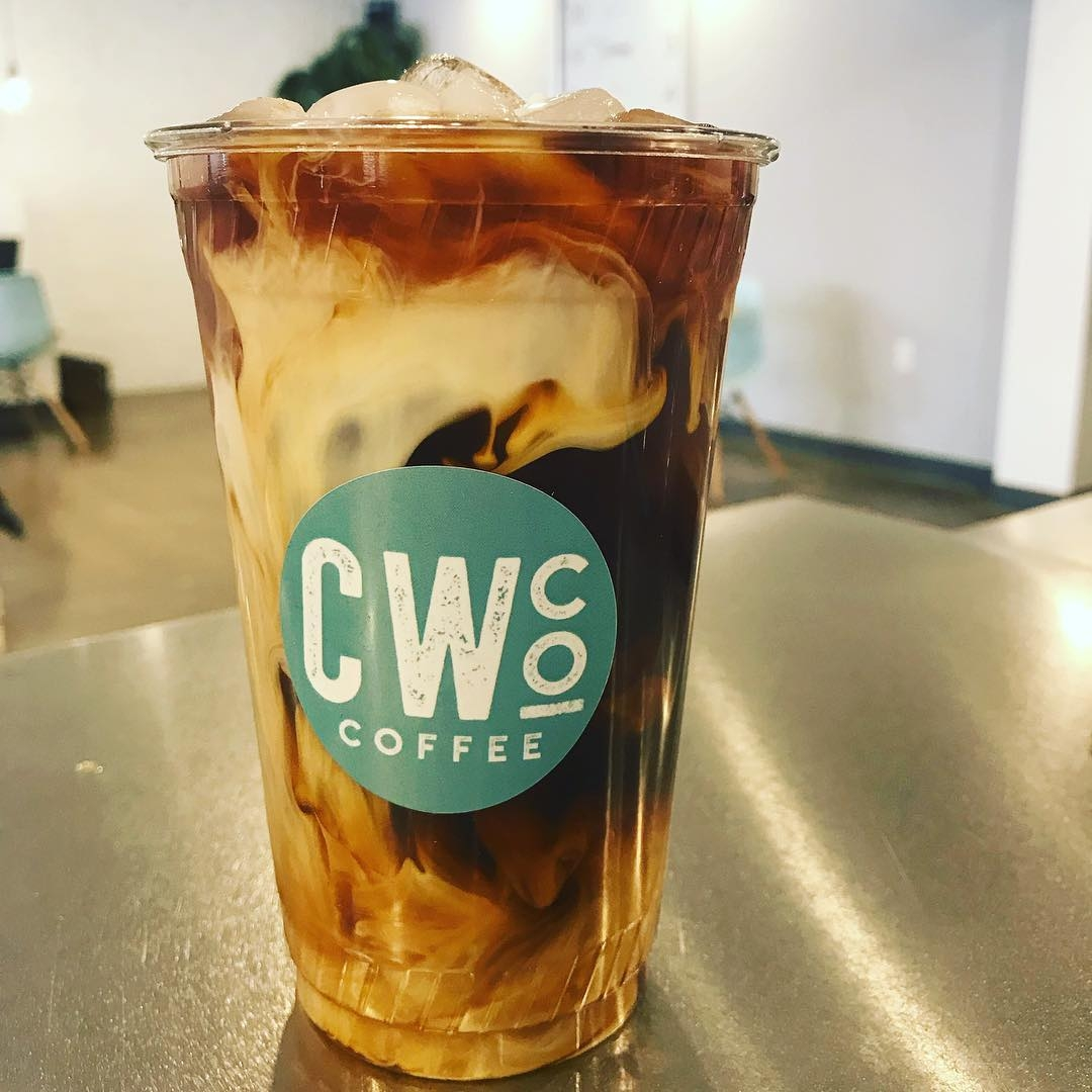 A delectable iced latte from CommonWealth Coffee Co. Photo via Instagram / @commonwealthcoffeeco