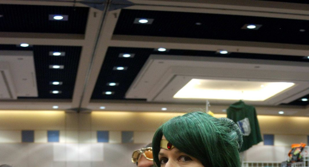 Forest City Comicon 2018. Christine Ruthven as Sailor Pluto at Forest City Comicon in London, Ontario.