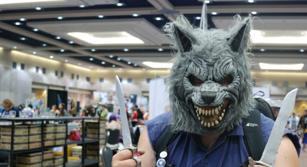 Forest City Comicon 2018. Jeff Pemberton cosplaying as Wolf Man at Forest City Comicon in London, Ontario.