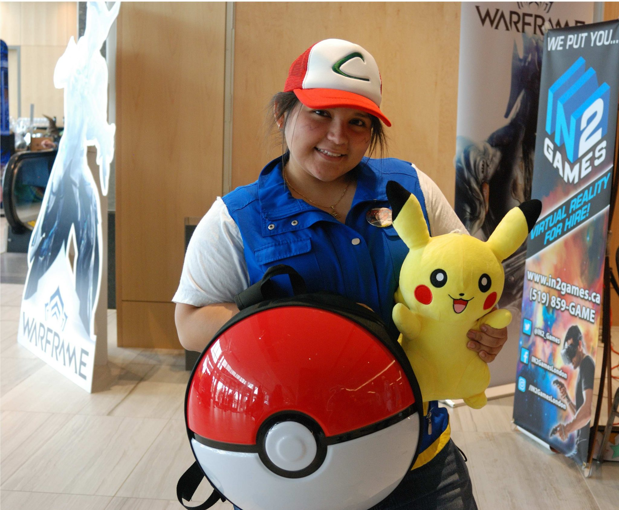 Forest City Comicon 2018. Jennifer Carpio cosplaying as Ash Ketchum from Pokemon at Forest City Comicon in London, Ontario.