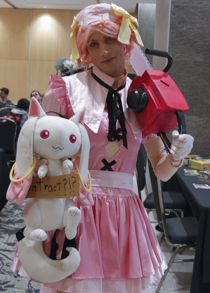 Forest City Comicon 2018. Justin Niederer cosplaying as Madoka from Puella Magi Madoka Magica at Forest City Comicon 2018 in London, Ontario.