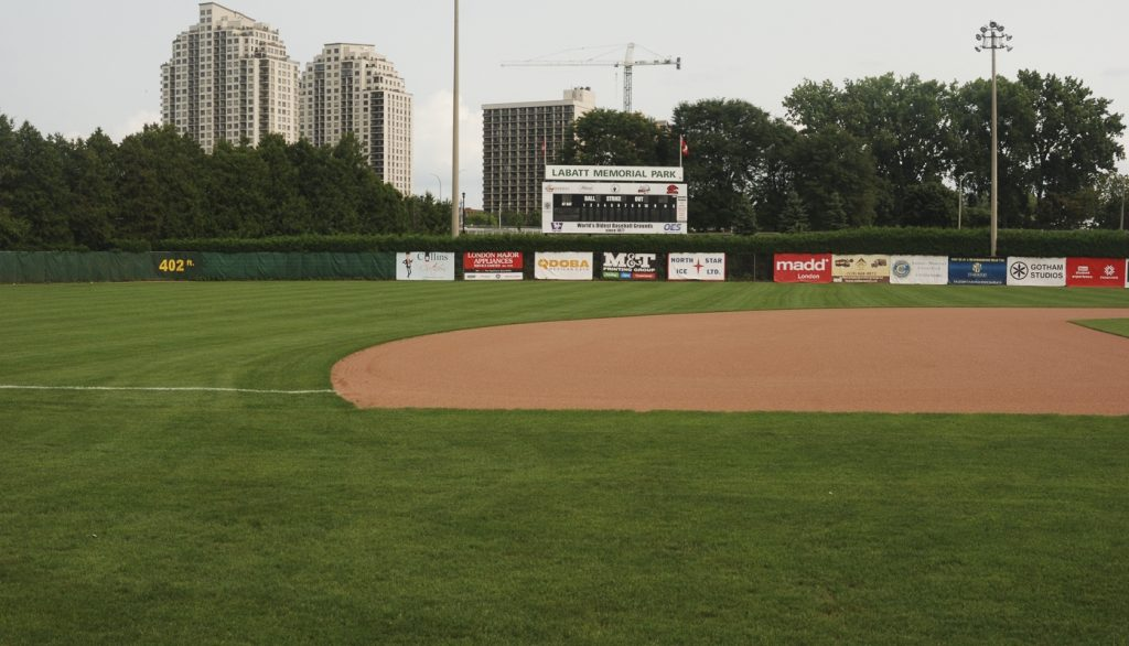 The grounds of Labatt Memorial Park in London, Ontario.