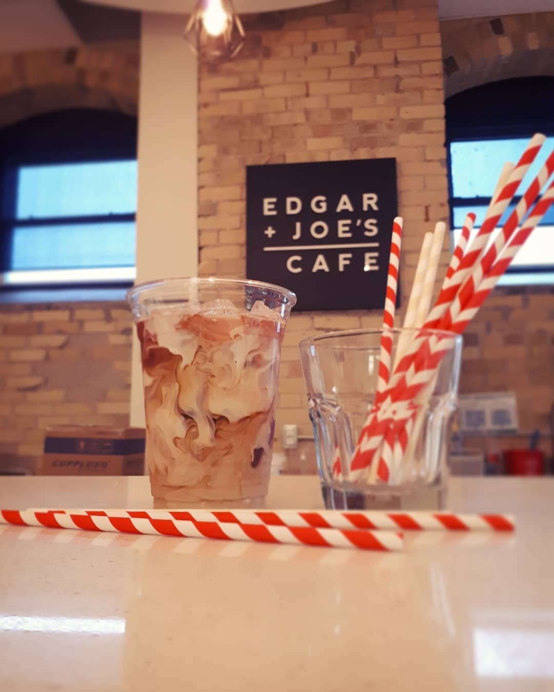 Edgar and Joe's joined the #stopsucking challenge and moved to paper straws this summer. Photo via Instagram / @edgarandjoes