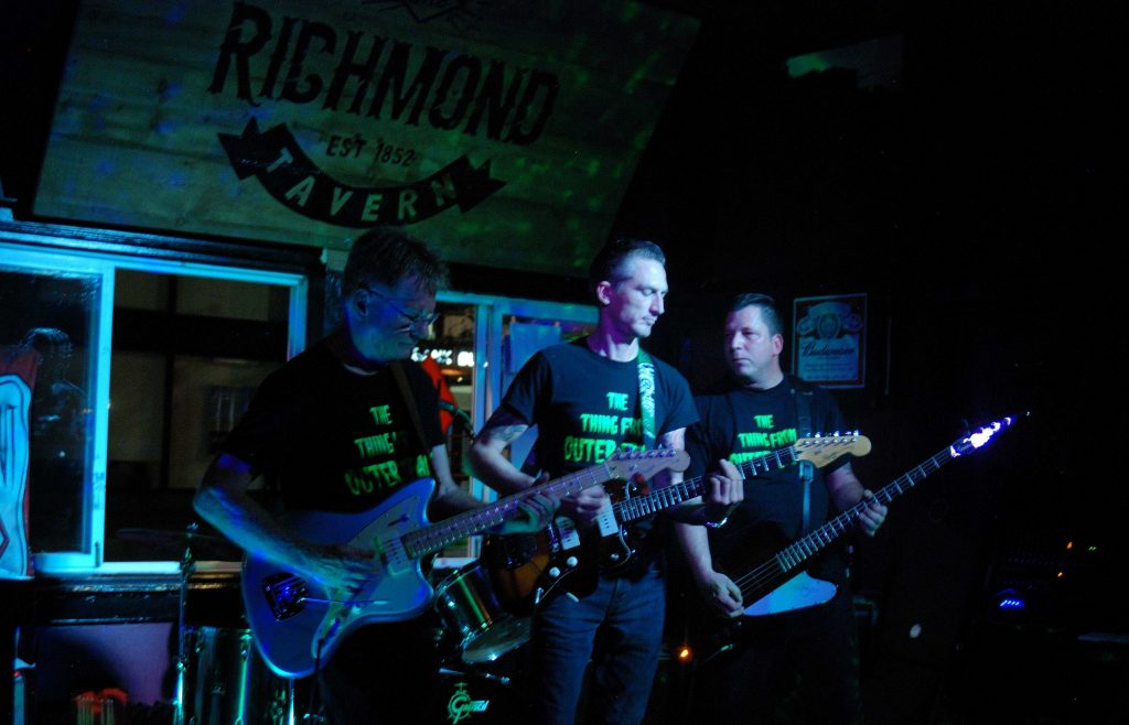 The band The Thing from Outer Space performing at the Richmond Tavern in London, Ontario
