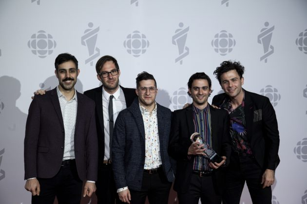 The Arkells finished the night off after winning Rock Album of the Year.