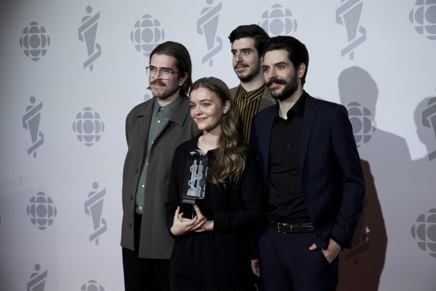 "With two nominations at the 2019 Junos, Dizzy won Alternative Album of the Year for their debut album ""Baby Teeth""."