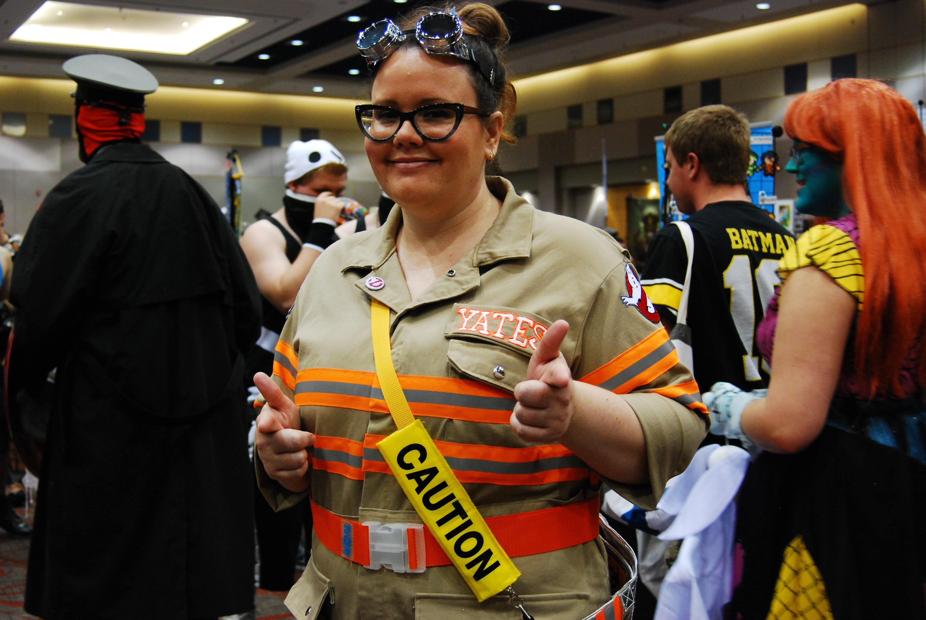 Angela Turner as a Ghostbuster at the 2017 Forest City ComiCon