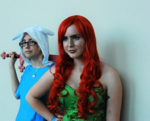 Alison Marco, and Cameron MacDonald as Fiona from Adventure Time and Poison Ivy at the London Convention Centre at Forest City ComiCon in 2017 in London, ON