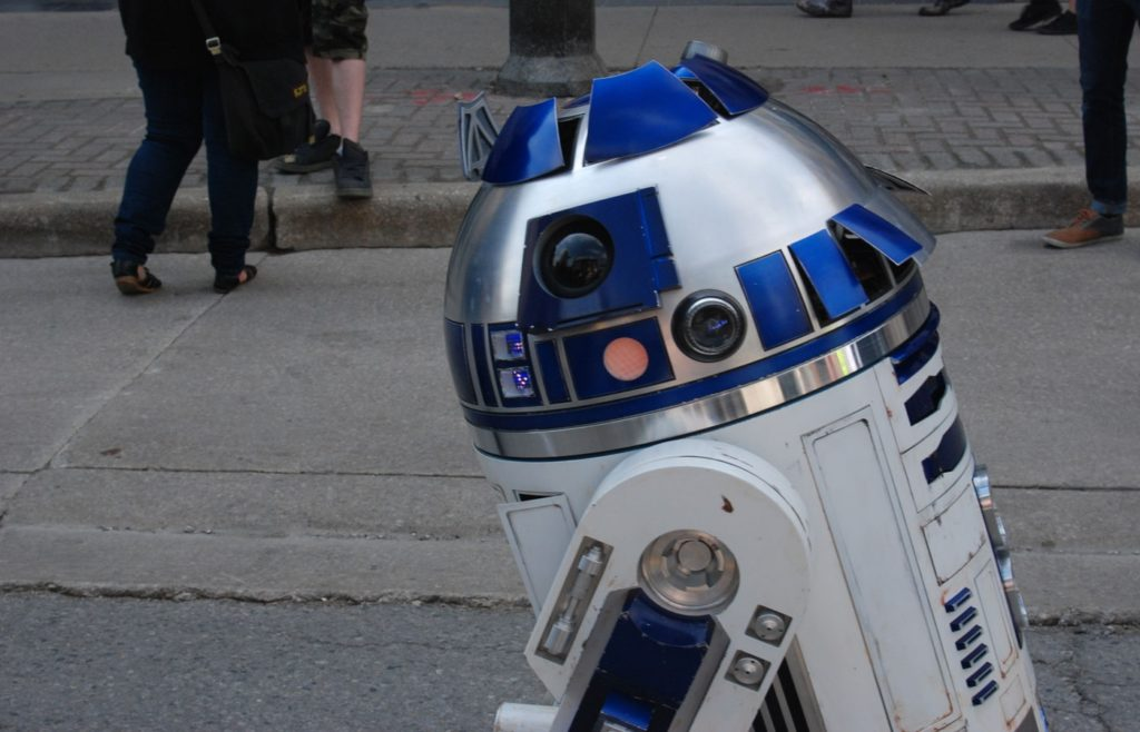 R2-D2 at Free Comic Book Day in 2018 in London, Ontario.