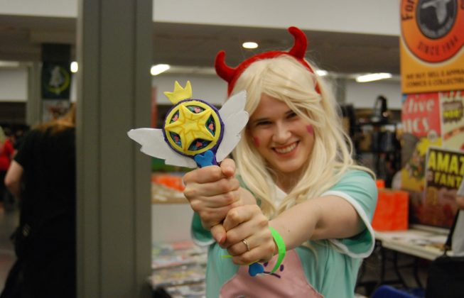 Melissa Zavitz as Star Butterfly from Star vs. the Forces of Evil at Forest City ComiCon at Centennial Hall in London, Ontario