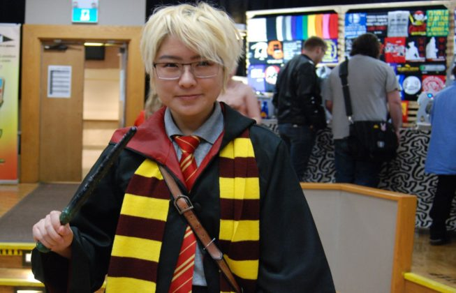 K. Kan as a Hogwarts student from Harry Potter at Forest City ComiCon at Centennial Hall in London, Ontario