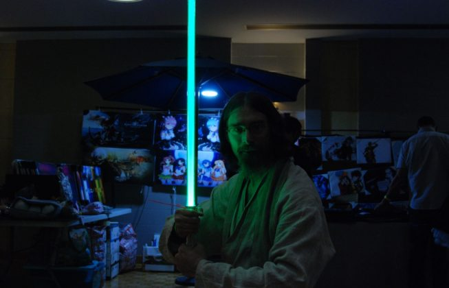 Erick Desjardins as a Jedi from Star Wars at Forest City ComiCon at Centennial Hall in London, Ontario