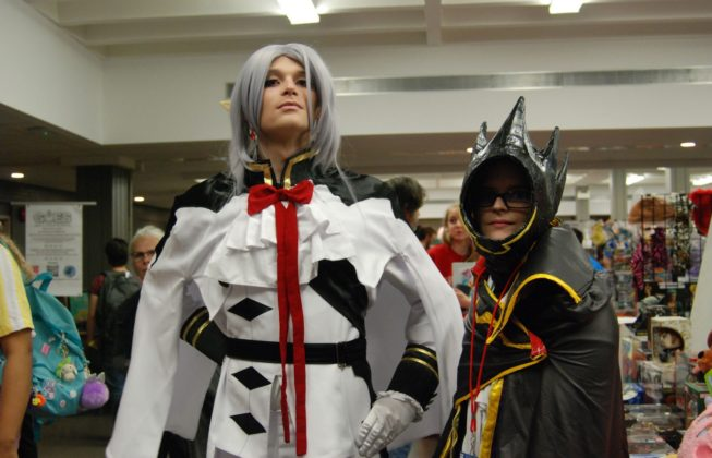 David Kohut aka Titan Friendly Cosplay as Seraph of The End and Kaissa Shoushounova as LeLouch from Code Geass at Forest City ComiCon at Centennial Hall in London, Ontario