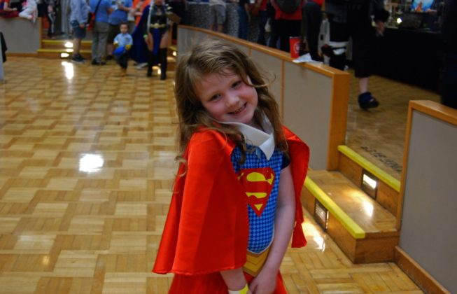 Aubrey Simard as Supergirl at Forest City ComiCon at Centennial Hall in London, Ontario.